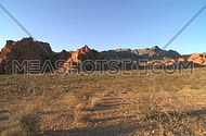 A view of the southern Nevada desert in and around the valley of fire.