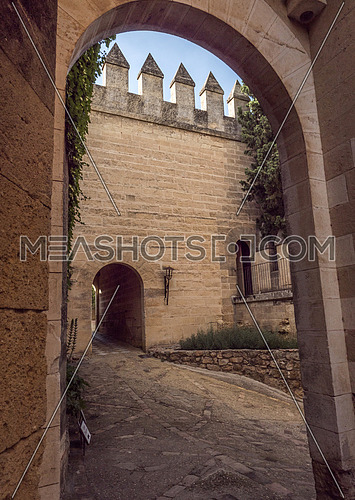 """Castle of Almodovar del Rio, It is a fortitude of Moslem origin, it was a Roman fort and the current building has definitely origin Berber, a Stage of the American producer HBO, for the series """"Game of Thrones"""". placed close to the Guadalquivir, take in Almodovar of the Rio, Cordoba province, Andalusia, Spain"""
