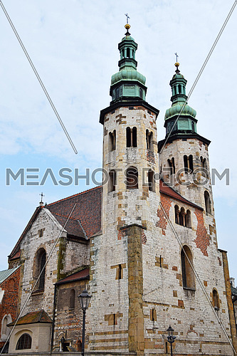Church of Saint Andrew, old historical Romanesque cathedral in Krakow, Poland