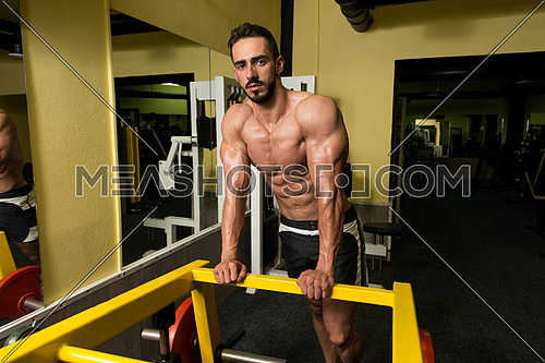 Healthy Young Man Resting In Healthy Club After Exercising