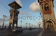 Stanly Bridge in alexandria Egypt during sunset on 24 october 2016