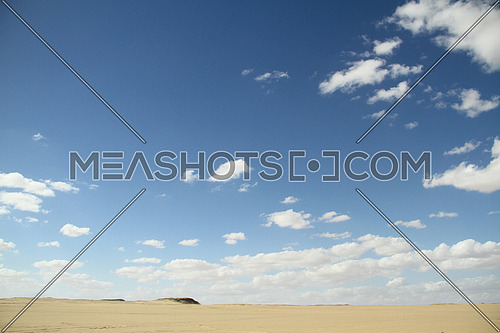 sunny day in the sandy desert in the Middle East