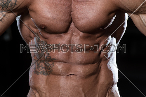 Close Up Of A Perfect Abs