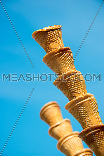 empty ice cream biscuit cone