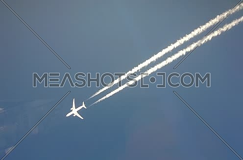 Long shot for plane fly very fast at day