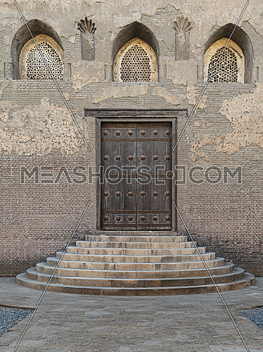 One of the doors at the front courtyard of Ibn Tulun Mosque, the largest mosque in Cairo, Egypt
