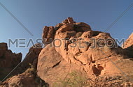 A panning view of the southern Nevada desert in and around the valley of fire.