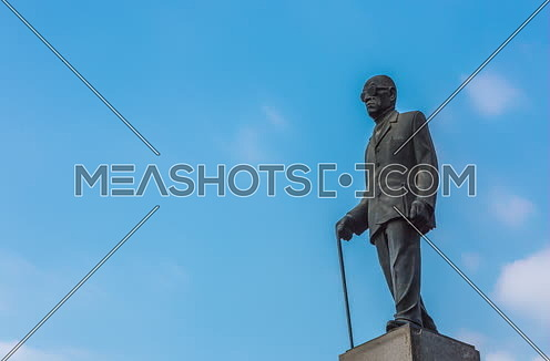 fixed shot for Naguib Mahfouz Statue at Cairo at Day