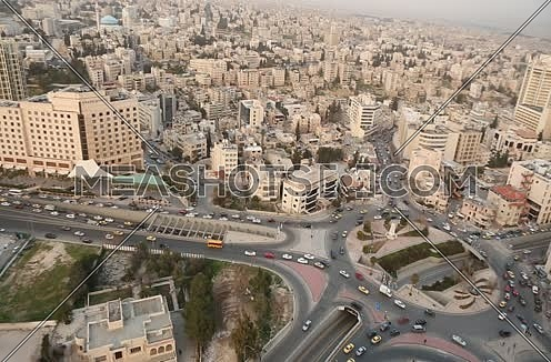 General Shot For Amman Showing Jabal Amman And Down Town