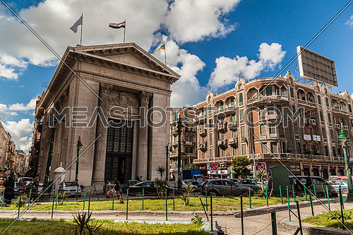 Long shot for Stock Market Building in Alexandria at Day