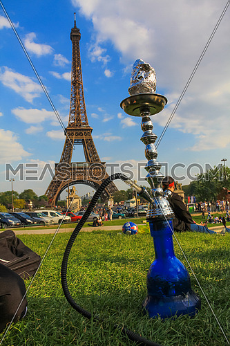 Shisha in front of Eiffel Tower in Paris