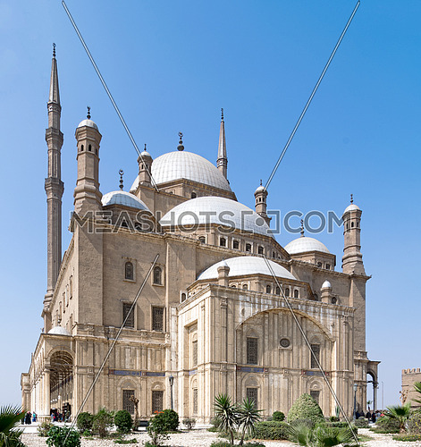 The great Mosque of Muhammad Ali Pasha (Alabaster Mosque), situated in the Citadel of Cairo, Egypt, commissioned by Muhammad Ali Pasha 1830 - 1848. Considered as one of the landmarks of Cairo