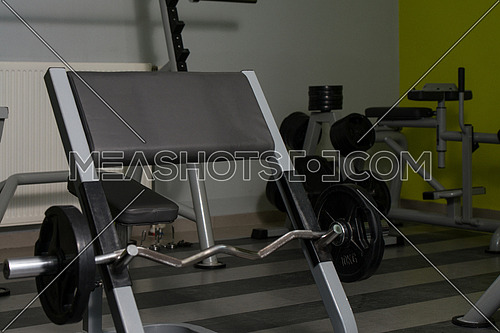 Nobody In Gym - Barbell Ready To Workout