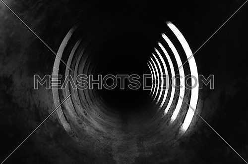 An Abstract shot of a tunnel
