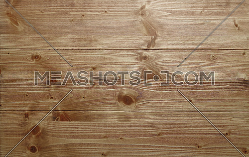Brushed natural unpainted light knotted neutral wooden planks board texture background close up