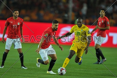 CAIRO, EGYPT - JUNE 21: abdallah el said player of Egypt during the 2019 Africa Cup of Nations match between Egypt and Zimbabwe at Cairo