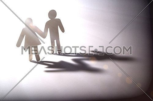 Couple go into the light, conceptual image