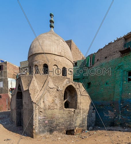 Ruins of Mausoleum of Sidi Al Komi, Darb el Labbana district, Old Cairo, Egypt