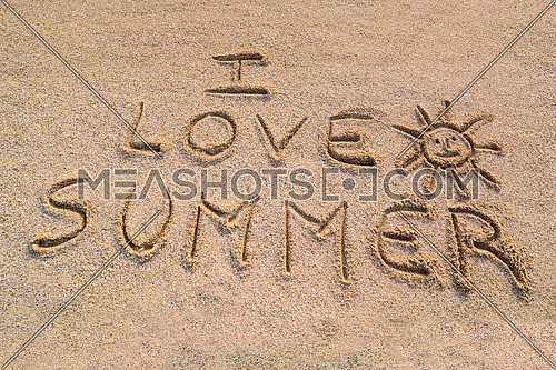 In the picture the writing on the sand \