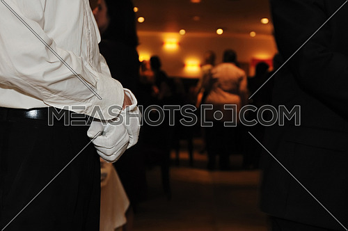 coctail and banquet catering party event at beautiful hotel restaurant on night