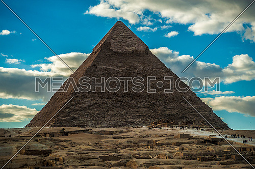 one of the Pyramids of Giza - The greatness of the Egyptian civilization  أهرامات الجيزة عظمة الحضارة المصرية