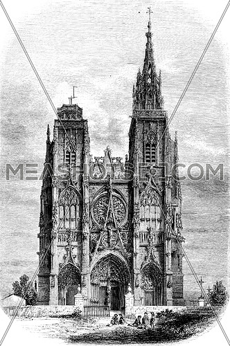 Our Lady of the Thorn, vintage engraved illustration. Magasin Pittoresque 1852.