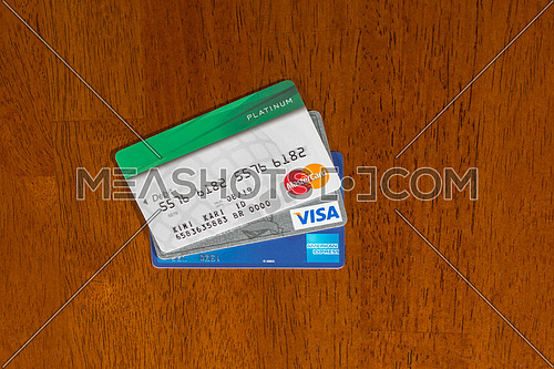 credit cards on table top