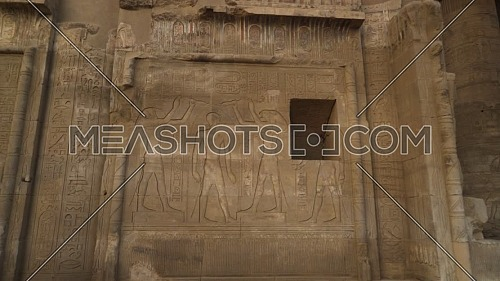 Track out The Temple of Kom Ombo Main Entrance At Aswan, Egypt by day