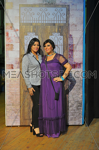 Egyptian belly dancer Vivi Abdo and her doughter azaa megahed in the last play haret el aoalem presented by the theater Lysia in Cairo in 17 july 2016