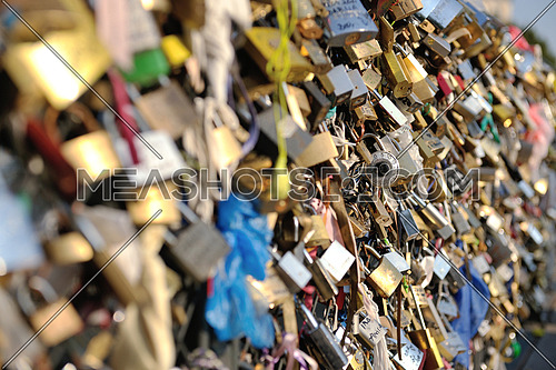 Love locks in Paris  representing secure friendship and romance