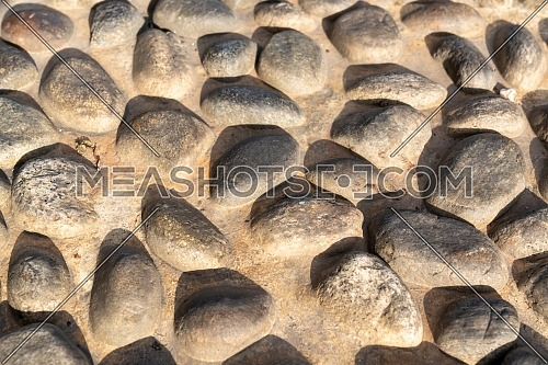 Old natural stone wall, background, texture or pattern. Rustic texture. Wall with bricks of italian stones.