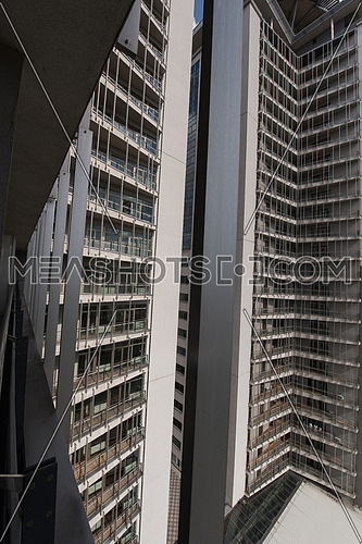 Long shot for exterior of a modern building at day